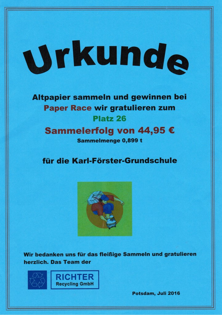 recycling-urkunde